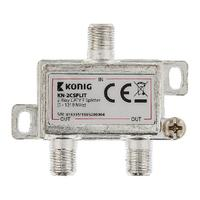 2-way CATV F splitter 5 - 1218 MHz