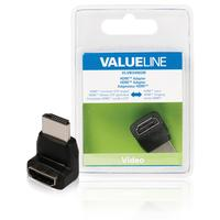 HDMI adapter HDMI connector 270° angled - HDMI input black