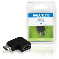 HDMI adapter HDMI connector right angled - HDMI input black
