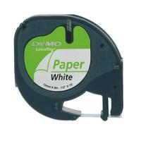 Dymo Tape Paper/White 12mx4mm f Letratag