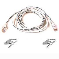 CAT 5 PATCH CABLE 1M MOULDED/SNAGLESS WHITE